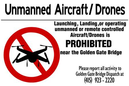 Drones Prohibited at the Golden Gate Bridge